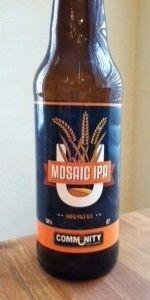 Mosaic IPA Is A American IPA Style Beer Brewed By Community Beer Company In  Dallas,