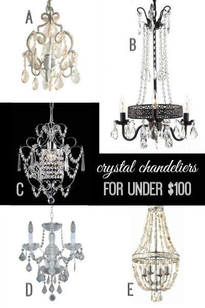Crystal Chandeliers For Under 100 Via Remodelaholic Com