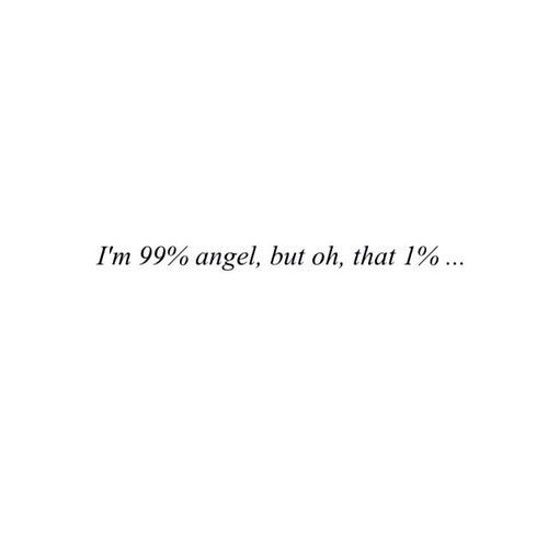 99 angel and 1 devil on We Heart It