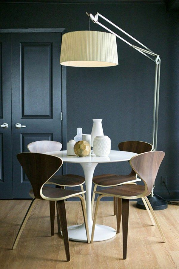 Einrichtungsideen Esszimmer Weißer Esstisch Braune Stühle Graue   Mobel  Furs Esszimmer Essgruppe Gestalten