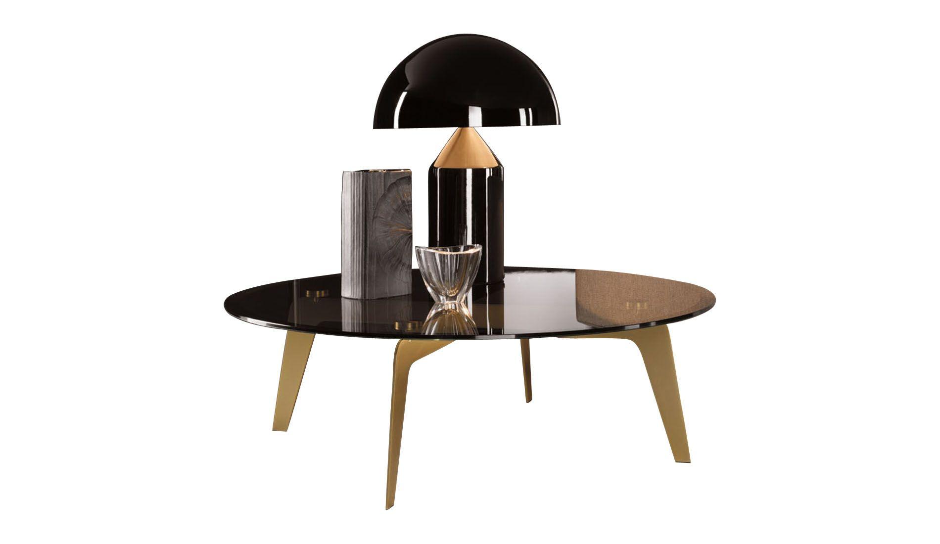 Minotti Kirk Cross Coffee Table round Minotti Style