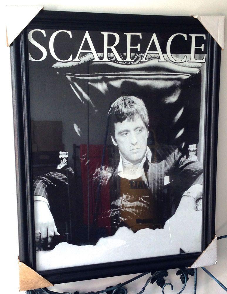scarface framed movie poster al pacino