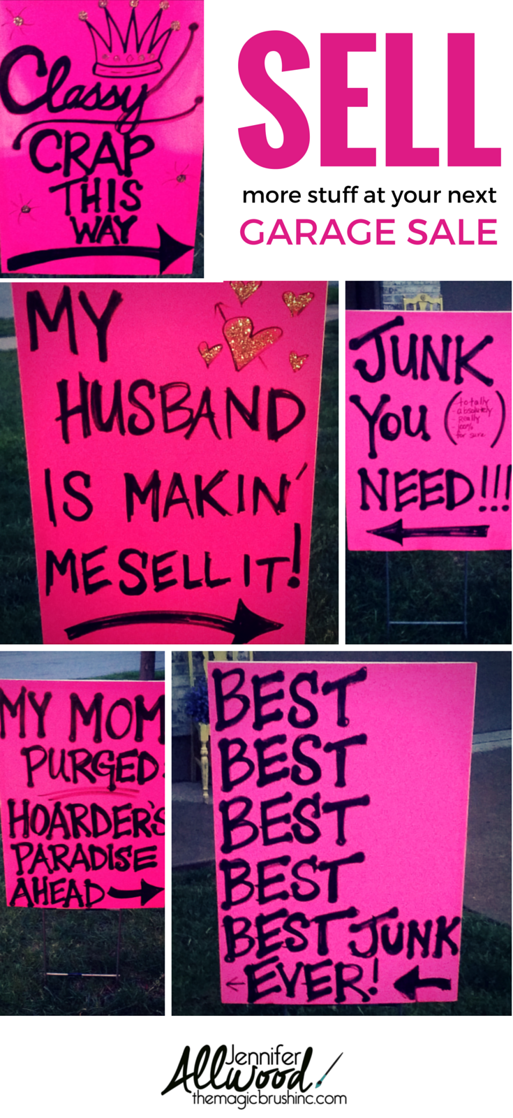 how to advertise for a garage sale with clever signs hometalk