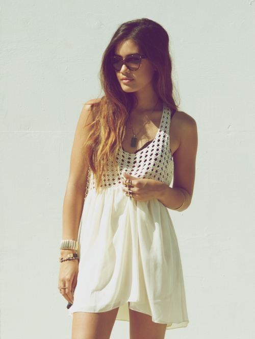 Sheer white summer dresses