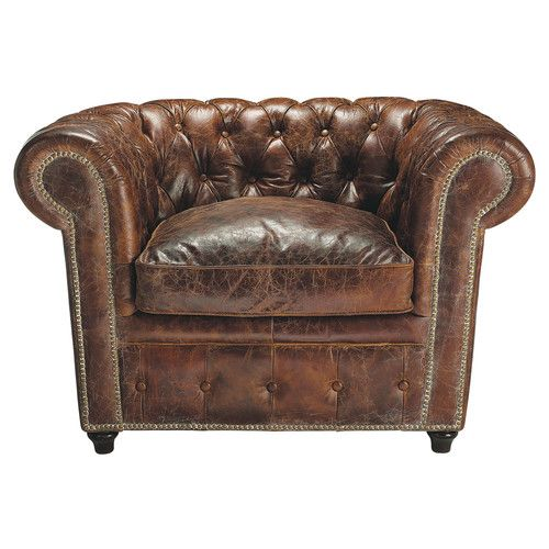 Chesterfield sessel leder braun - Favola stilmobel ...
