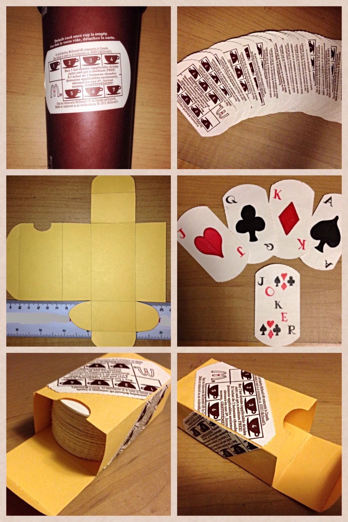 Another project using mcdonalds coffee loyalty cards from
