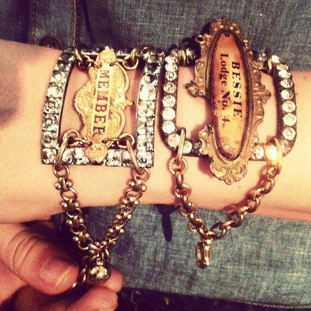 rhinestone buckle bracelets.....lulu frost