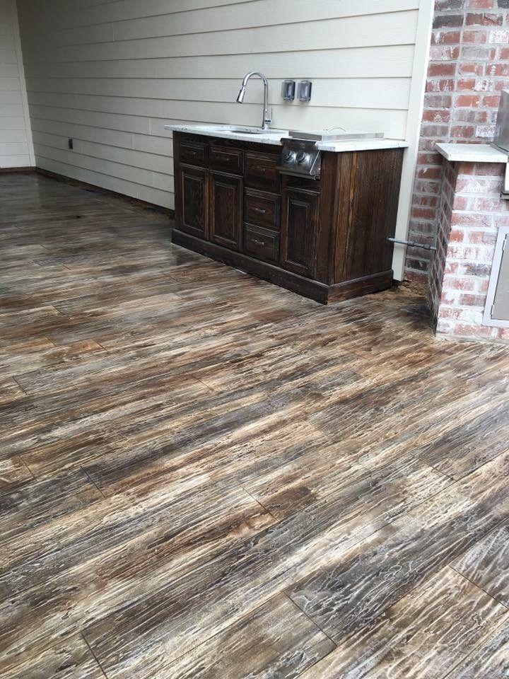 Exterior Concrete Wood Plank Floor 2016 Snap Amp Win