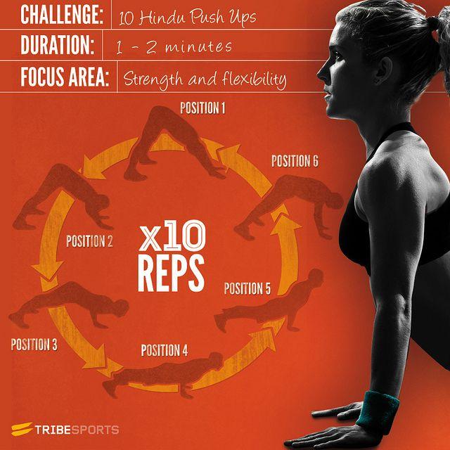 Hindu Pushup Infographic Tribe Sports Push Up Workout Fitness Motivation