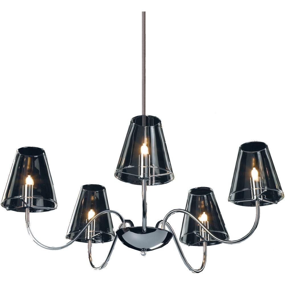 Et2 chic 5light chandelier clear glass chandelier