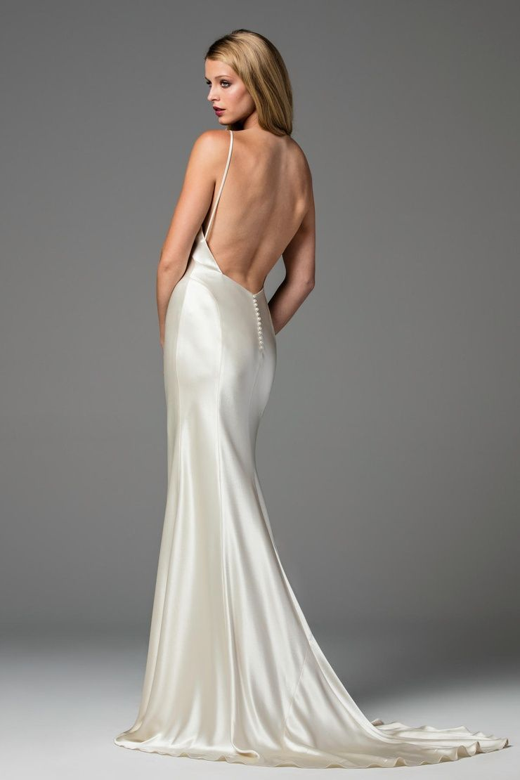 9e29571216dfd Watters Spring 2017 wedding gown Geneva--elegant and simple wedding--Glamorous,  backless wedding gown