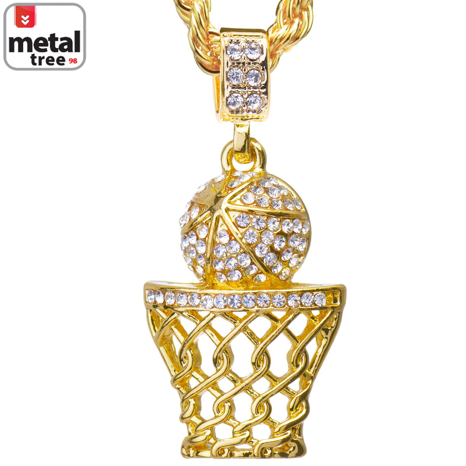 Men/'s 14K Gold Finish Iced Out 3D MONEY BAG WITH WINGS FLYING Pendant Charm Pc