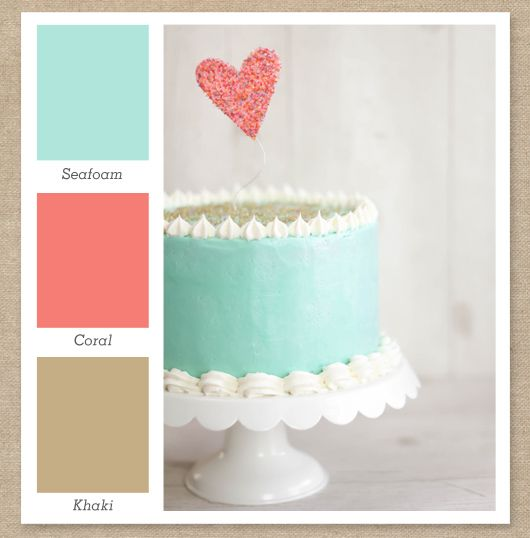 Seafoam Mint Green Coral Pink And Tan Color Palette