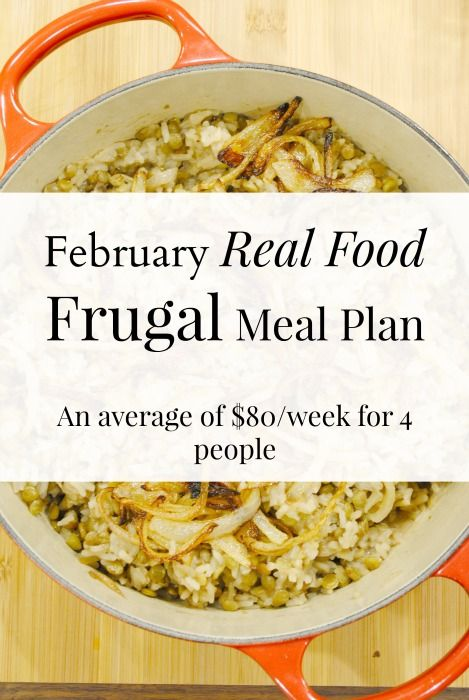 February low cost healthy meal plan frugal meals frugal and real february low cost healthy meal plan eat well spend smart forumfinder Gallery