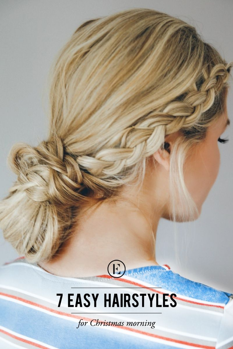 7 Easy Hairstyles For Christmas Morning Beauty Is Pinterest