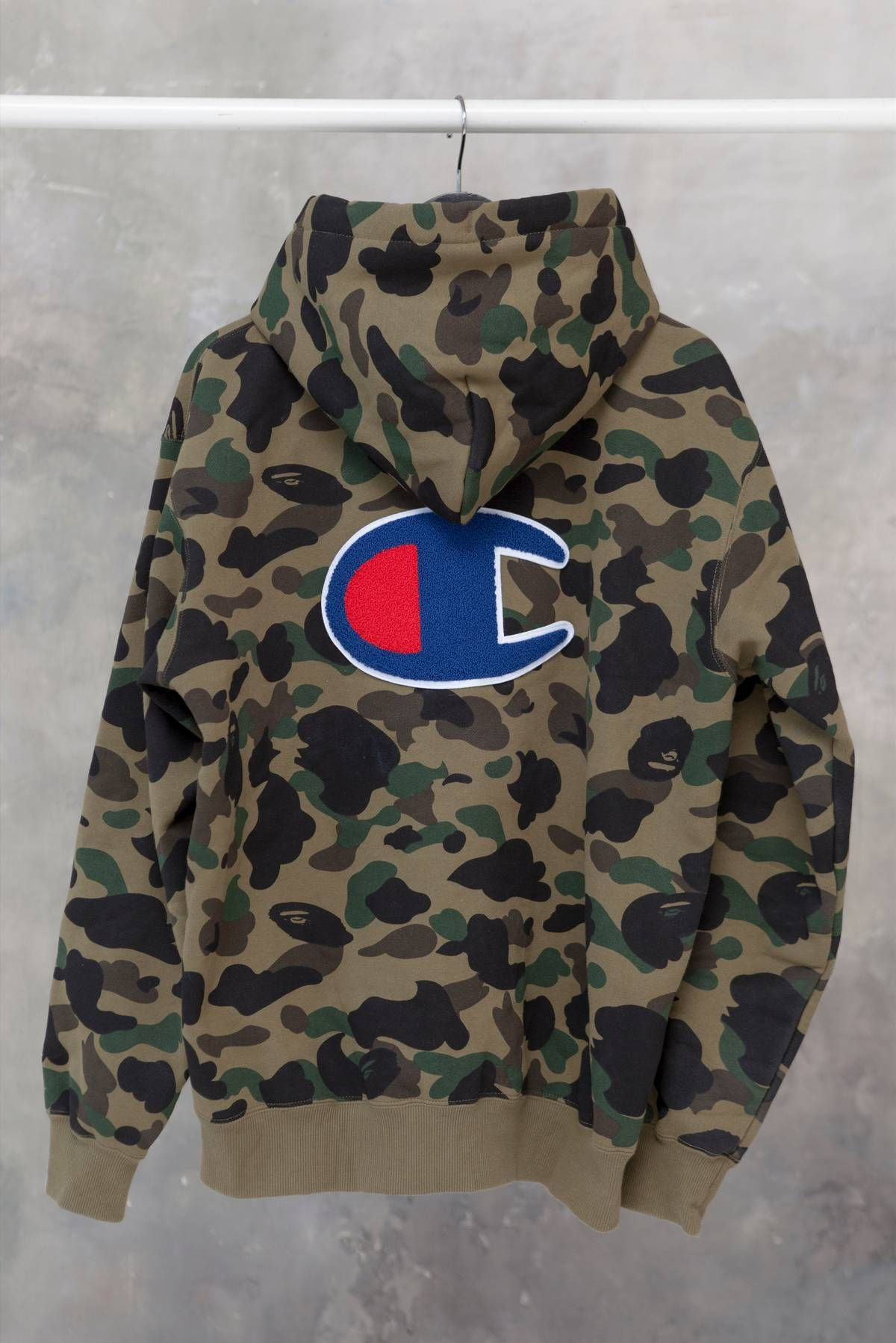 6dc364810d639 Bape A Bathing Ape Bape x Champion 1st Camo Zip Hoodie 16FW Size xl -  Sweatshirts & Hoodies for Sale - Grailed