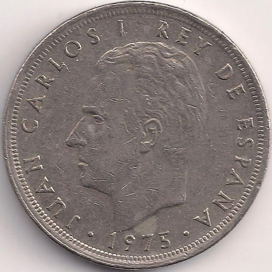Motivseite Münze Europa Südeuropa Spanien Peseta 500 1975 Juan