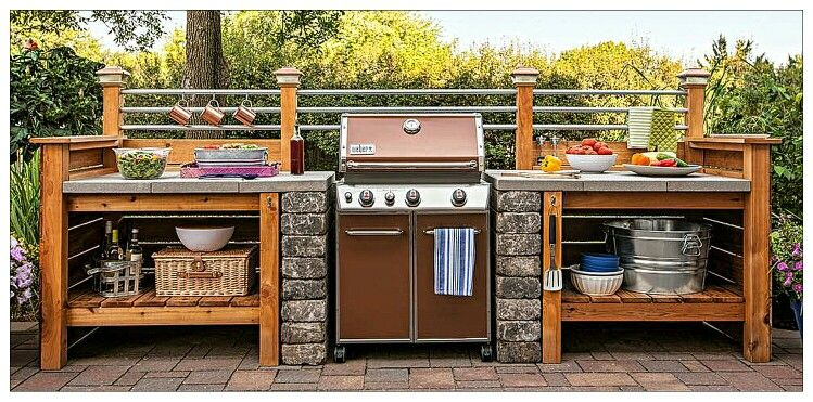 Awesome Weber Grill Setup Outdoor Kitchen Patio Kitchen Diy Outdoor Kitchen