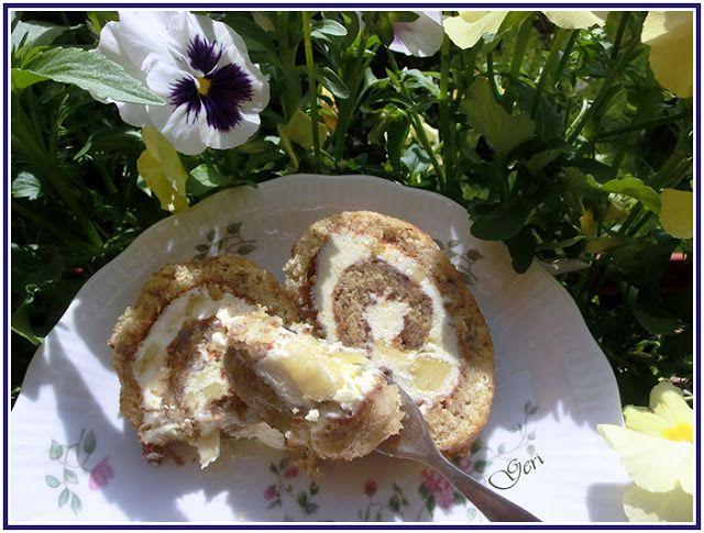 Lecker mit Geri: Bananen-Biskuitrolle - Бананово руло
