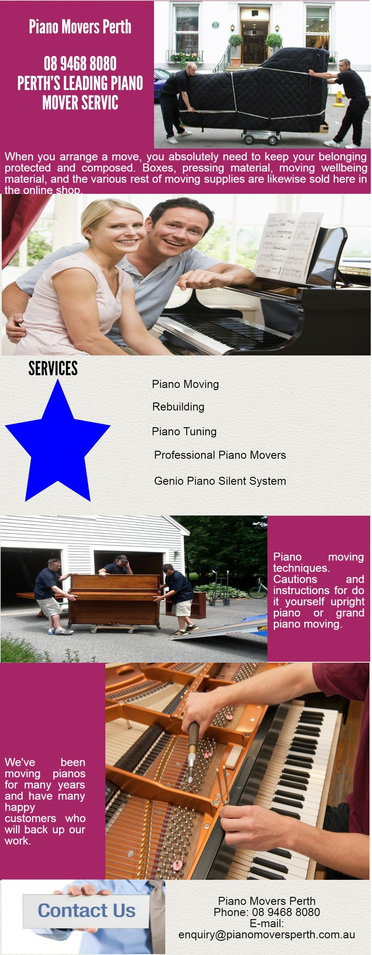 Checkout Best Piano Movers in Perth. With highly skilled