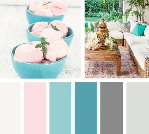 Una paleta de colores que combina los sabores frescos de for Colores que pegan con el gris