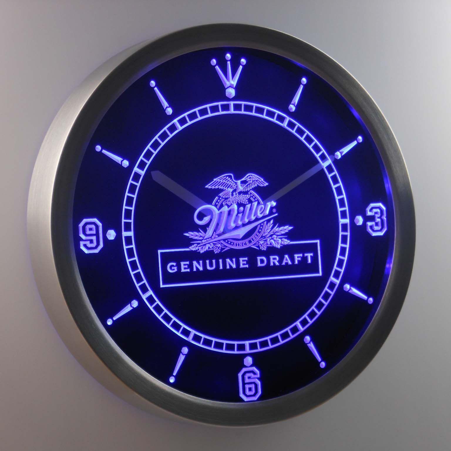 Miller Genuine Draft LED Neon Wall Clock Led wall clock