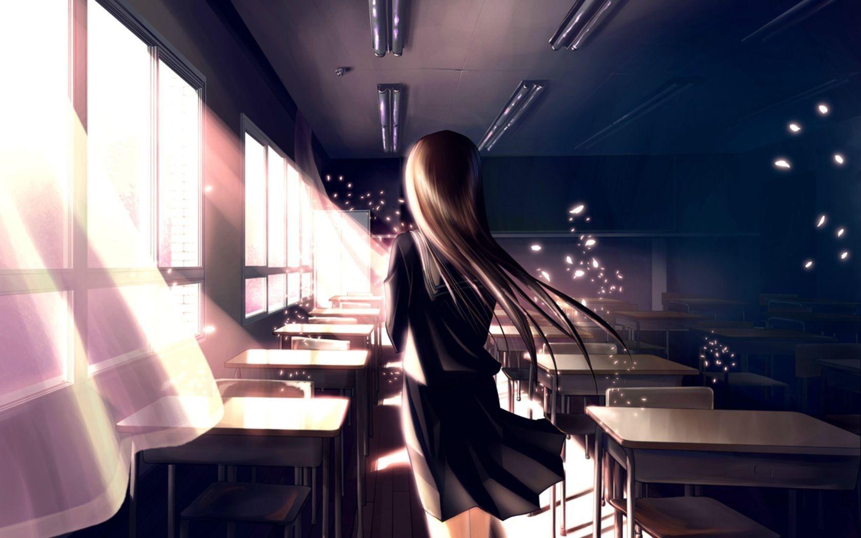 Anime School Girl Laptop Anime Wallpaper Download Girl