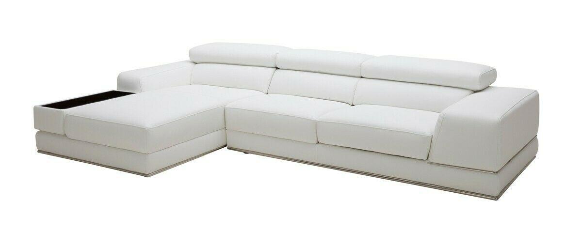 Ultra Modern White Genuine Italian Leather Sectional Sofa 2pc Set V174128 W Leather Sofa Set Leather Sectional Sofa Italian Leather Sectional Sofa