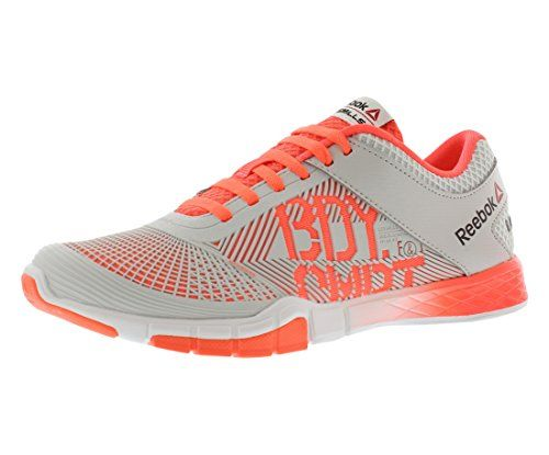 2e6eec55c77 Reebok Womens Studio LM Les Mills Body Combat tm Dance Shoes in Polar Blue  Grey and Vitamin C Neon Orange Size 7 -- You can find more details by  visiting ...