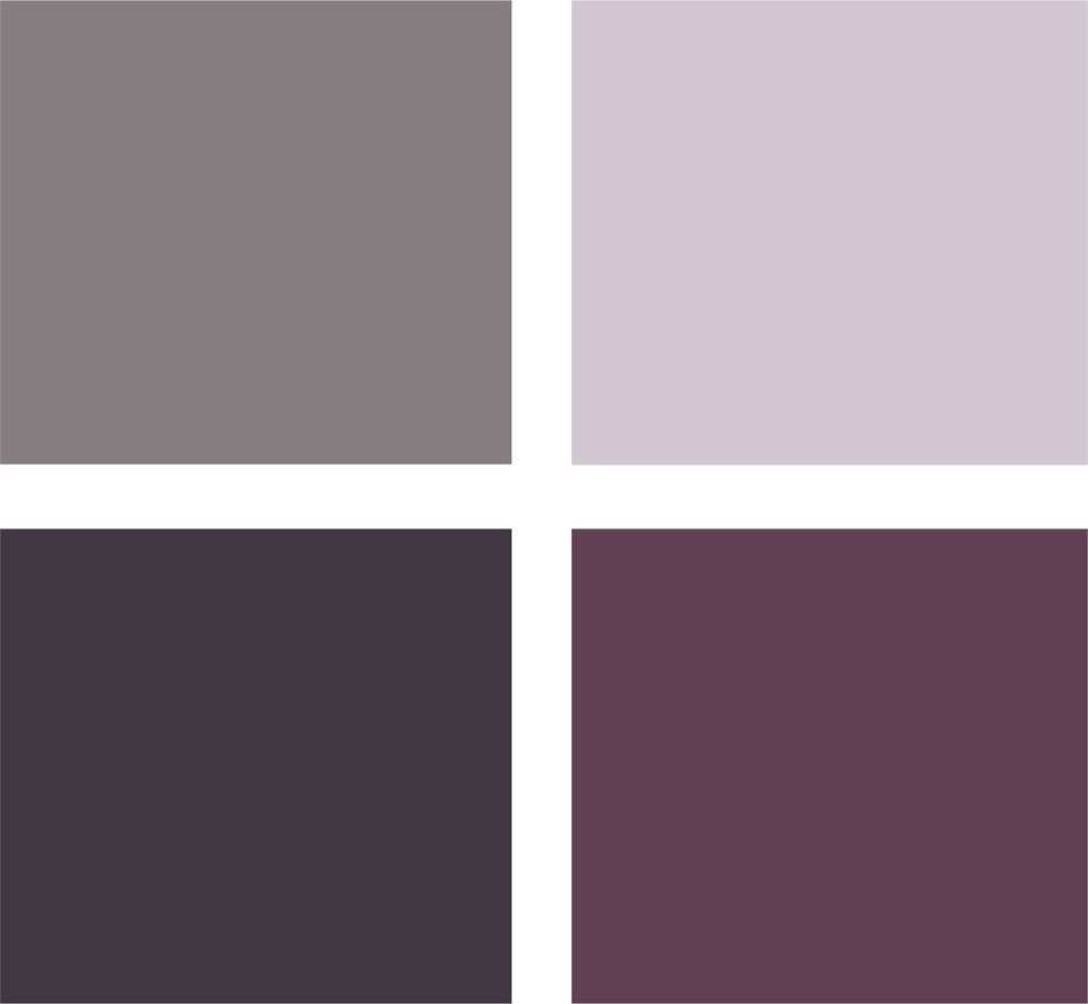 Bedroom colors grey purple - Love These Bedroom Colors Have It In Our Master With The Dark Purple As A Accent To Our Cream Walls Looks Great With White Gray Bedding Home Paint