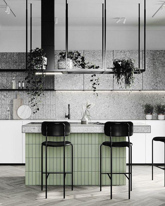 Fresh, clean, minty green. Repost @architecture_hunter . . . . . #kitcheninspo #homeimprovement #remodel #housebeautiful #remodelling #kitchensinks #modern #contemporary #instadecor #homedesign #home #homestyle #homedecorlover #ecofriendlydesign #ecofriendlyproduct