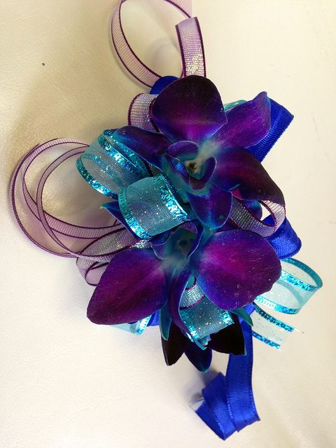 Prom Blue Orchid Wristlet Shirleys Flowers Amp Gifts Inc