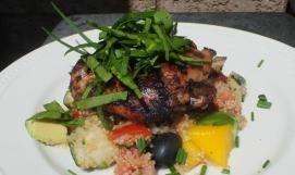 Santa Fe BBQ Chicken with Quinoa Tropical Salsa