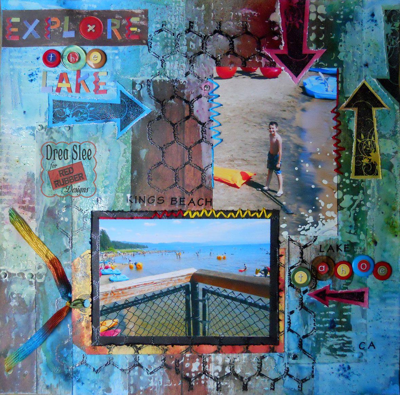 Featured Red Rubber Designs Stamps: Chicken Wire Background, Elegant ...