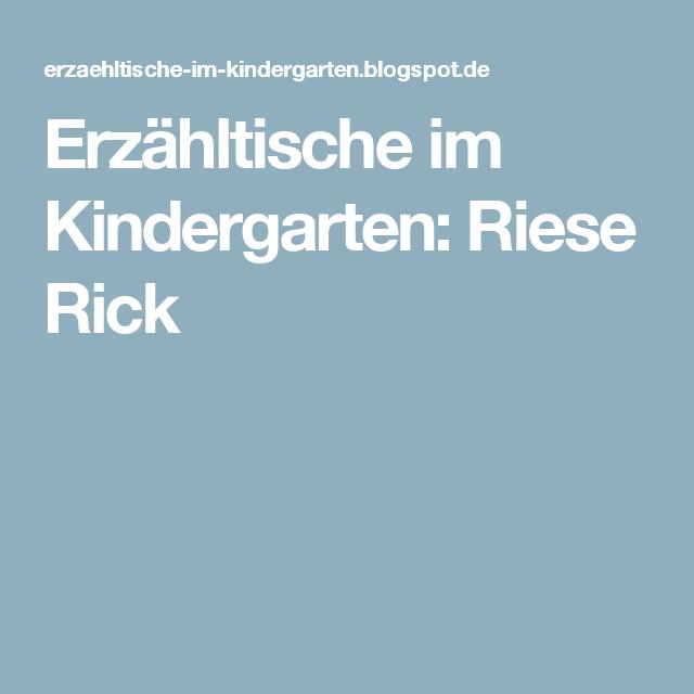 erzähltische im kindergarten riese rick  turnen im