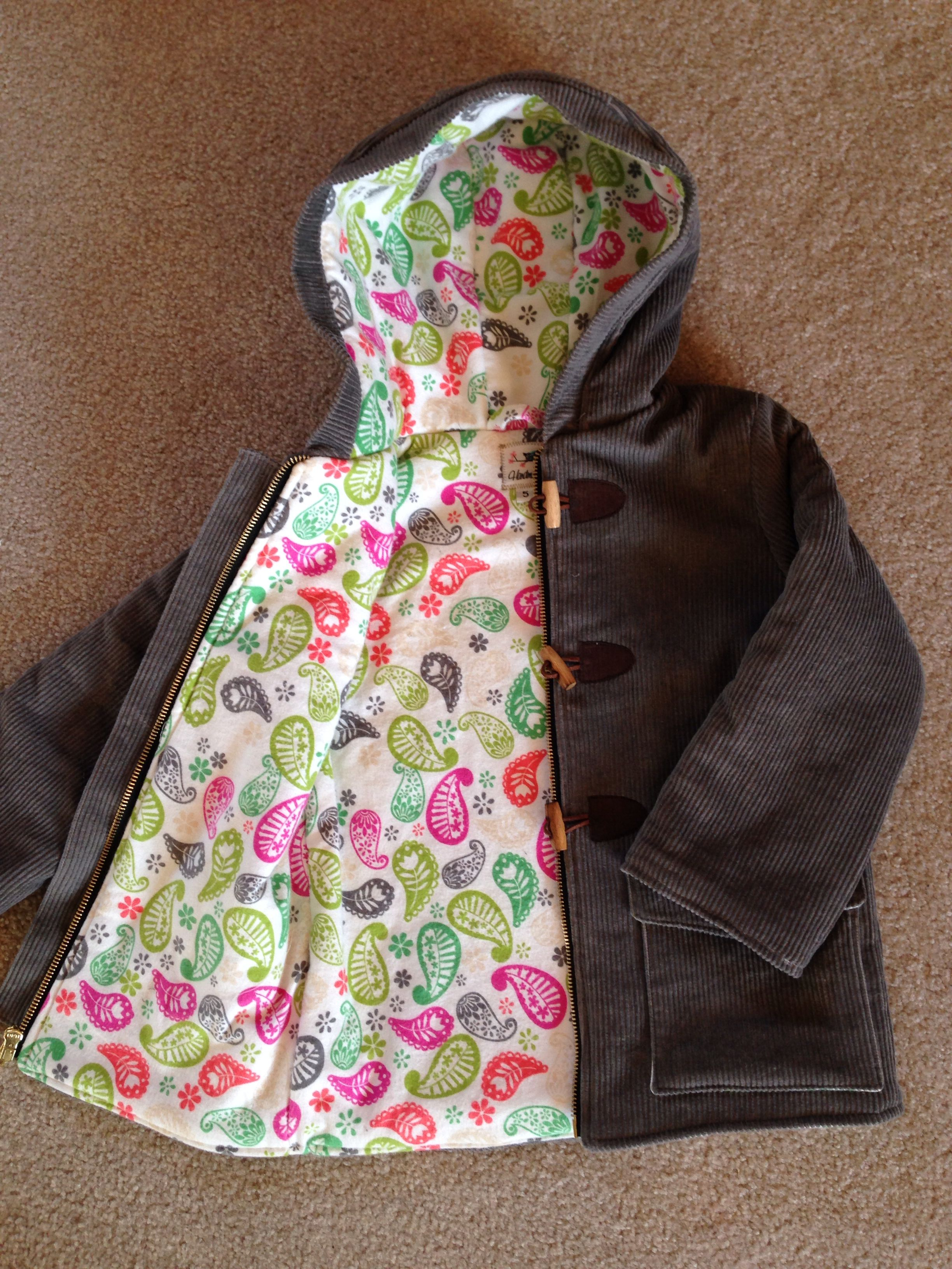 c4b3660f0305 Downton Duffle coat from Peekaboo Pattern Shop