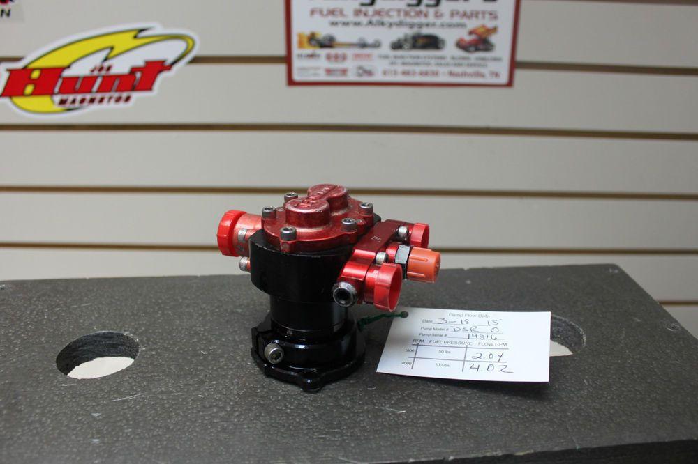 """DSR Dash 0 Fuel Pump """"Flowed"""" Like a Waterman 400 Hilborn"""