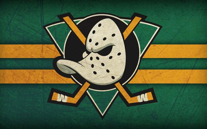 Download wallpapers Anaheim Ducks, logo, American hockey