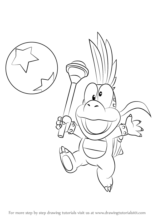 Koopalings Coloring Pages : koopalings, coloring, pages, Learn, Lemmy, Koopa, Koopalings, (Koopalings), Drawing, Tutorials, Unicorn, Coloring, Pages,, Tutorial