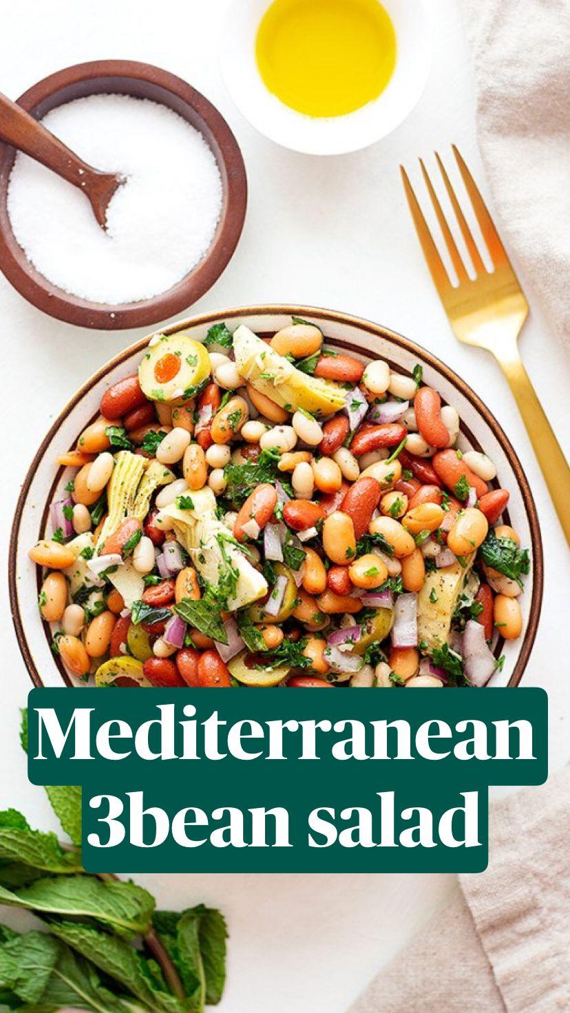 Mediterranean 3bean salad