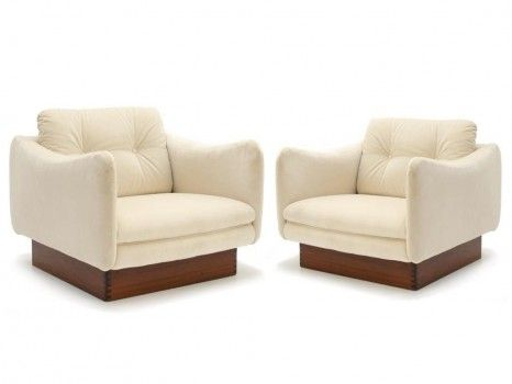 Paire de fauteuils modèle Teckel | Michel Mortier | Pinterest ...