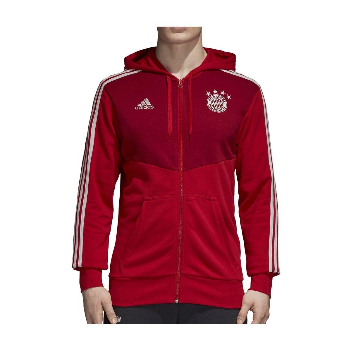 Veste À Capuche Bayern Munich Adidas 3 stripes Rouge