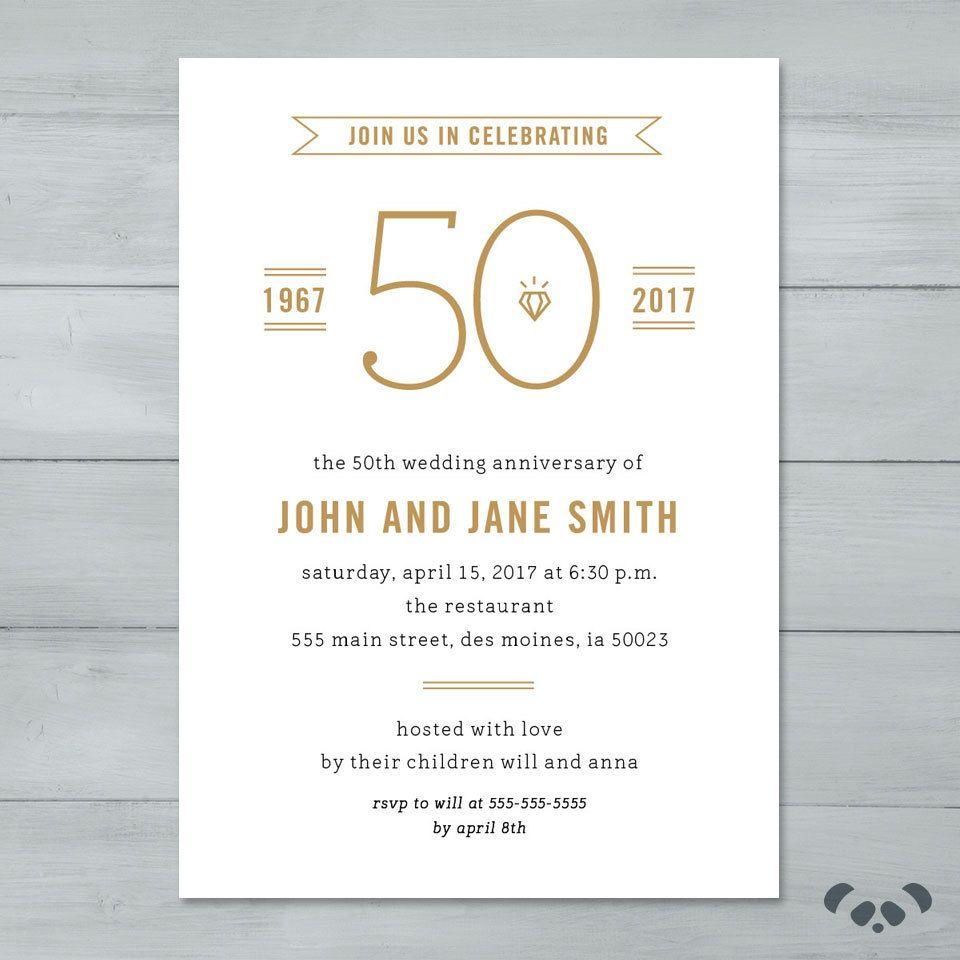 Anniversary Party Invitation | Wedding Anniversary Party Invitation ...