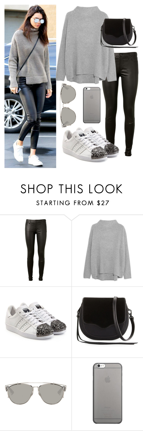 """Kendall Jenner"" by allex17 ❤ liked on Polyvore featuring AG Adriano Goldschmied, Vince, adidas Originals, Rebecca Minkoff, Christian Dior and Native Union"