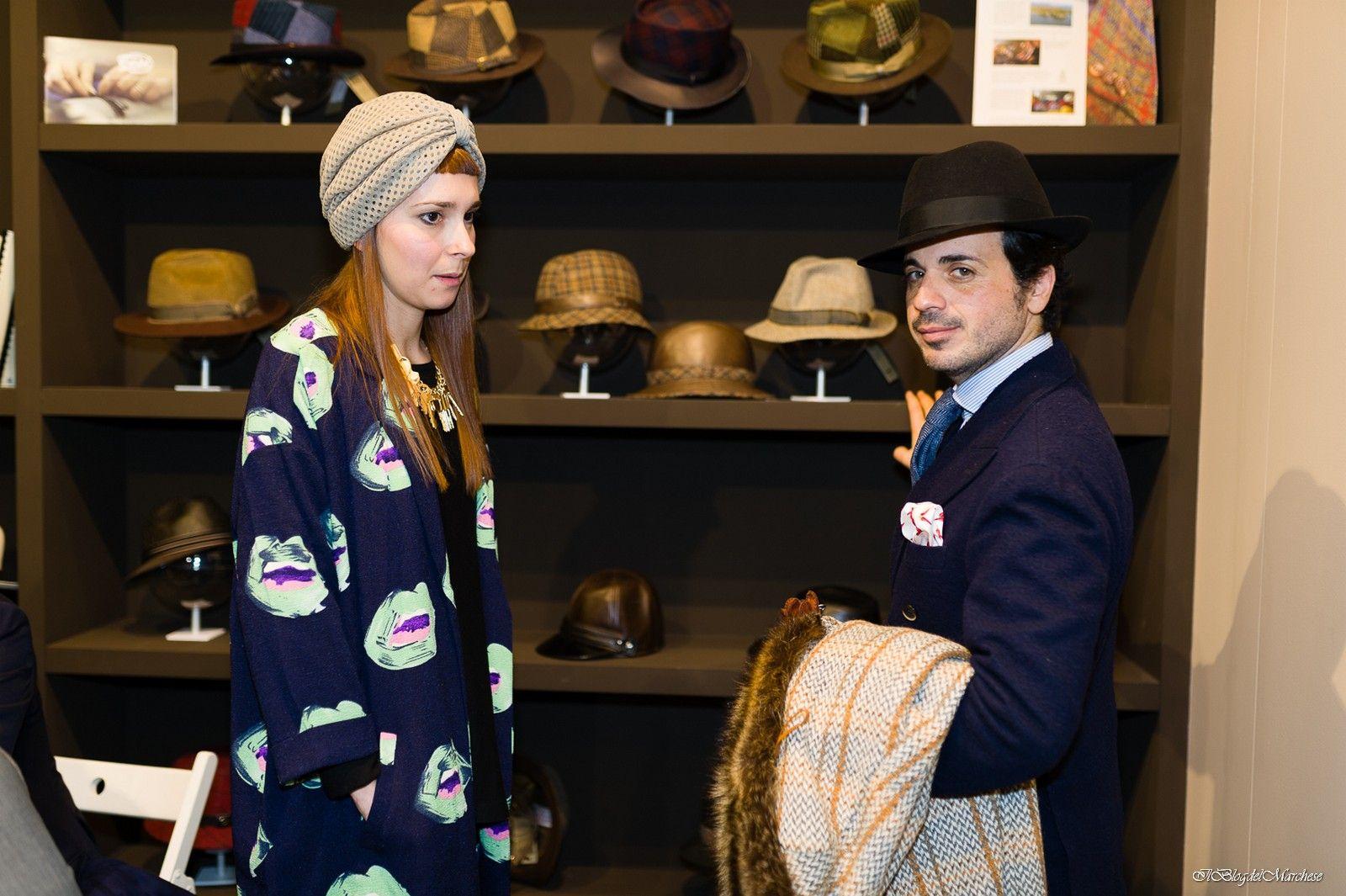 Tesi Hats stand pitti uomo 87-gennaio 2015 con Diletta Masi