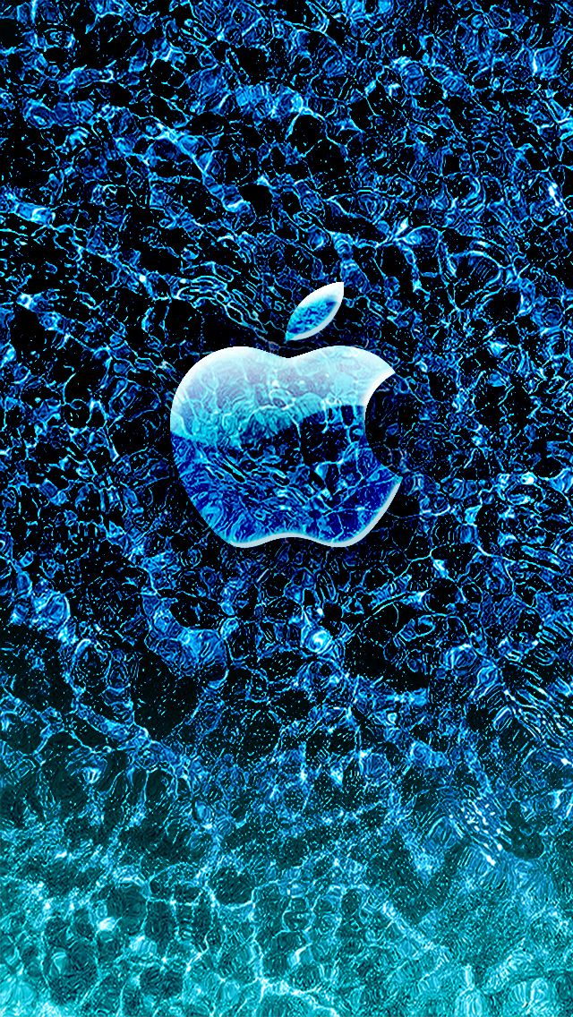 Ice Apple Hd Wallpaper For Iphone Apple Wallpaper Apple Wallpaper Iphone Apple Logo Wallpaper Iphone