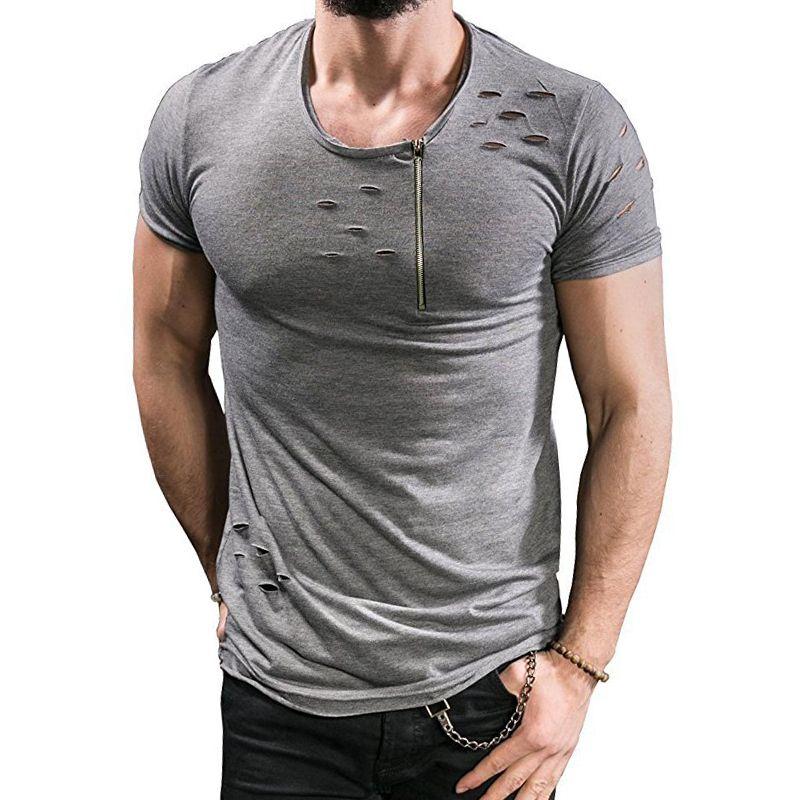 Men/'s Summer Check Tops Long Sleeve Tee Shirt Slim Fit 100/% Cotton Blouses Tee