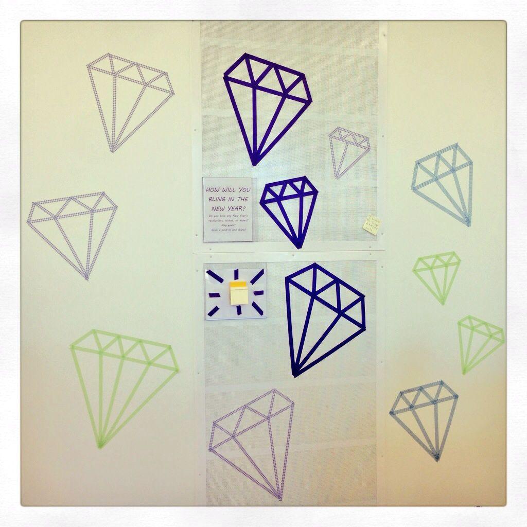 Washi Tape Diamond Wall Decor