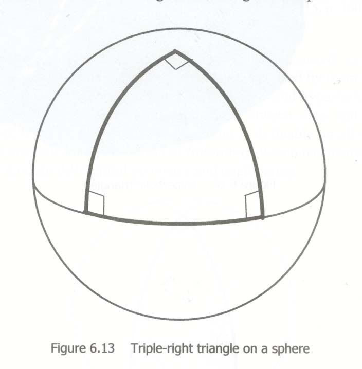 The angles of this triangle add up to 270 degrees, not 180