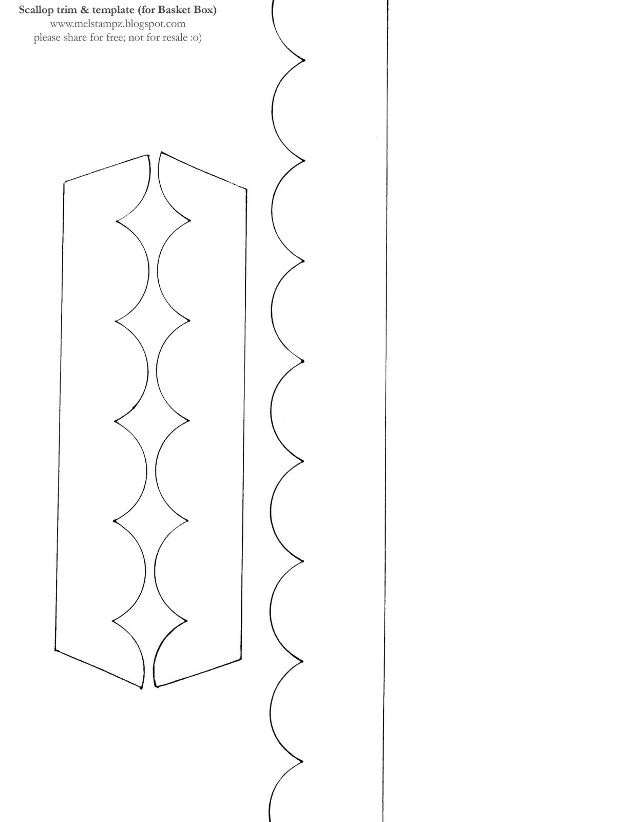 picture relating to Scalloped Edge Template Printable referred to as Scallop hem gain behavior DIYs + Tutorials Templates